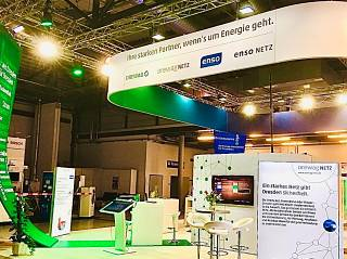 Messestand ENSO 2020 Rigging und Beleuchtung